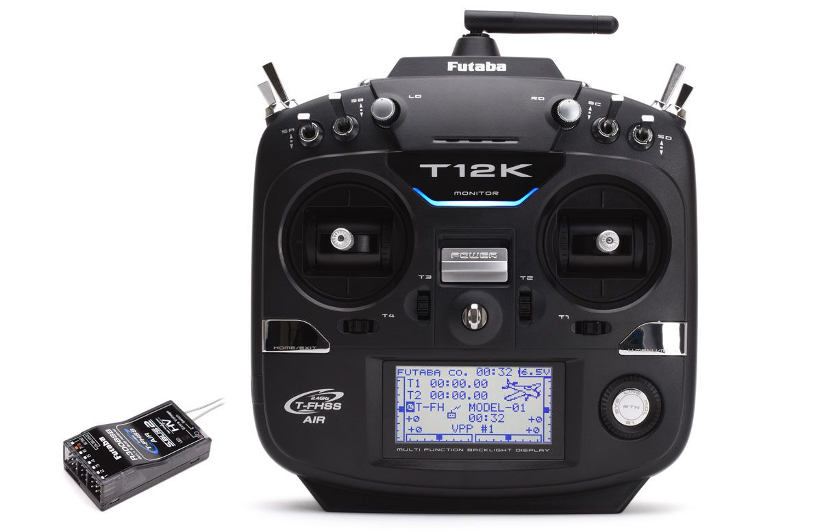 Futaba T12K 12-Channel 2.4GHz Combo with R3008SB (Mode 1)