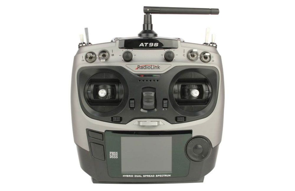 RadioLink AT9S 2.4GHz 10-Channel Transmitter with Receiver (Silver)