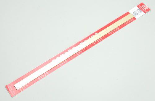 """K&S Brass Strip .064 x 1/2 x 1/2"""" - 1.6 x 12.7 x 305mm"""